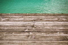 Aged wooden pier background Royalty Free Stock Images
