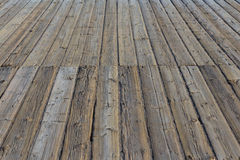 Aged wooden pier / platform -  wooden floor, wood flooring Royalty Free Stock Images