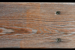 Aged wooden plank textured background. Natural wood pattern. Macro view Stock Images