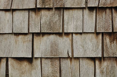 Aged Wooden Shingle Background Stock Photos
