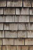 Aged Wooden Shingle Background Stock Photo