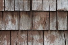 Aged Wooden Shingle Wall Background Royalty Free Stock Photo