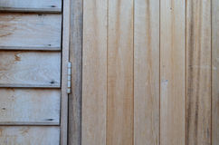 Aged Wooden Wall Panel With Hasp Stock Photography