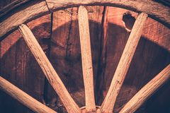 Aged Wooden Wheel Royalty Free Stock Photography