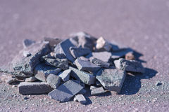 Aged and worn vintage photo of concrete rubble Royalty Free Stock Image