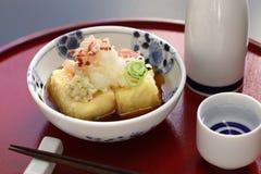 Agedashi tofu, japoński jedzenie Fotografia Royalty Free