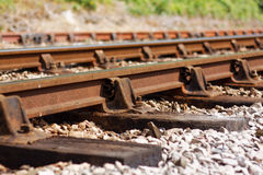 Ageing Railway Line Showing Signs of Disrepair Royalty Free Stock Images