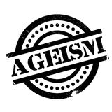 Ageism rubber stamp. Grunge design with dust scratches. Effects can be easily removed for a clean, crisp look. Color is easily changed vector illustration