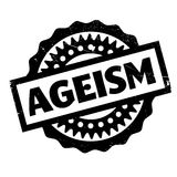 Ageism rubber stamp. Grunge design with dust scratches. Effects can be easily removed for a clean, crisp look. Color is easily changed stock illustration
