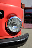 Ageless headlamp of a firefighter truck Royalty Free Stock Images