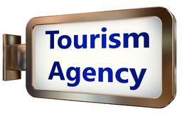 Agence de tourisme sur le fond de panneau d'affichage illustration stock