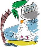 Agence de voyages et tourisme illustration stock
