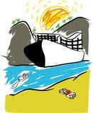 Agence de voyages et tourisme illustration de vecteur