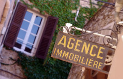 Agence immobiliere Obrazy Royalty Free