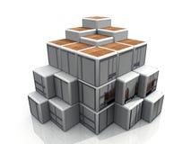 Agencement artistique de cube illustration stock