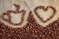 Agencement avec du café Image stock