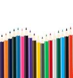 Agencement coloré de crayon illustration libre de droits