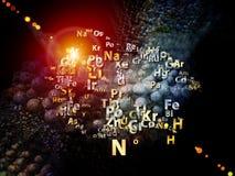 Agencement d'éléments chimiques illustration de vecteur