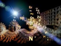 Agencement d'éléments chimiques illustration stock