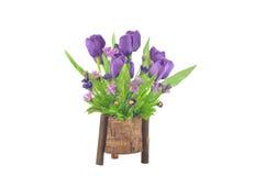 Agencement de fleur artificiel de tulipe Image libre de droits