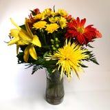 Agencement de fleur sur le fond blanc Photo stock