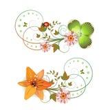 Agencement de fleurs illustration de vecteur