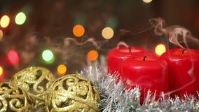 Agencement de Noël Bougies brûlantes clips vidéos