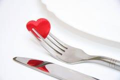 Agencement de plaque de dîner Image libre de droits