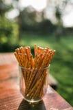 Agencement de pretzel Rods/bâtons Photos stock