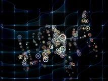 Agencement de réseau illustration de vecteur