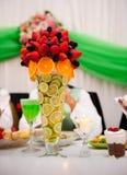 Agencement de table de mariage Image stock