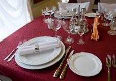 Agencement de table de restaurant photos libres de droits
