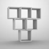 Agencement des cubes. illustration stock