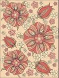 Agencement des fleurs et des lames, conception florale illustration stock