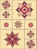 Agencement des fleurs et des lames, conception florale illustration libre de droits