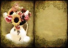 Agencement floral de fond de cru illustration libre de droits