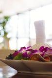 Agencement thaïlandais de massage de station thermale Photographie stock