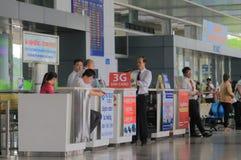 Agenci podróży chi Minh miasta lotnisko międzynarodowe Wietnam Ho Zdjęcia Royalty Free