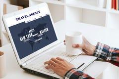 Agenci podróży strona internetowa zdjęcia royalty free