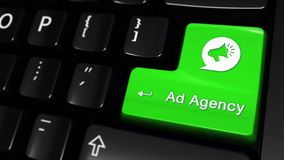 40 Agencja Reklamowa Poruszający ruch Na Komputerowej klawiatury guziku ilustracji