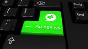42 Agencja Reklamowa Round ruch Na Komputerowej klawiatury guziku ilustracja wektor
