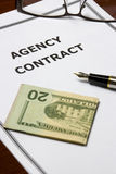 Agency Contract Royalty Free Stock Images