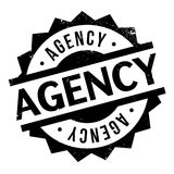 Agency rubber stamp Stock Images