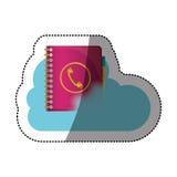 Agend et conception de calcul de nuage Images libres de droits