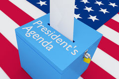 Agenda总统的概念 向量例证