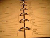 Agenda Fotos de archivo