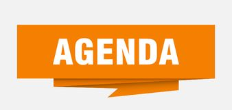 Agenda Stock de ilustración
