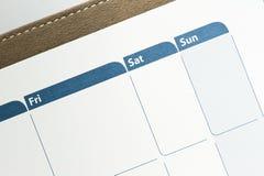 Agenda stock fotografie