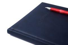 Agenda 2008 en pen Stock Afbeeldingen