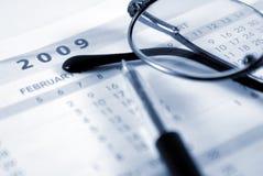 Agenda 2009 Royalty-vrije Stock Fotografie